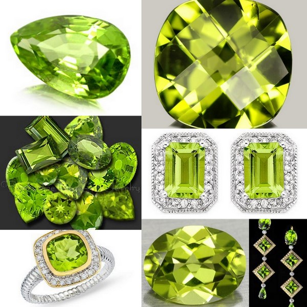Actual Peridot gemstones