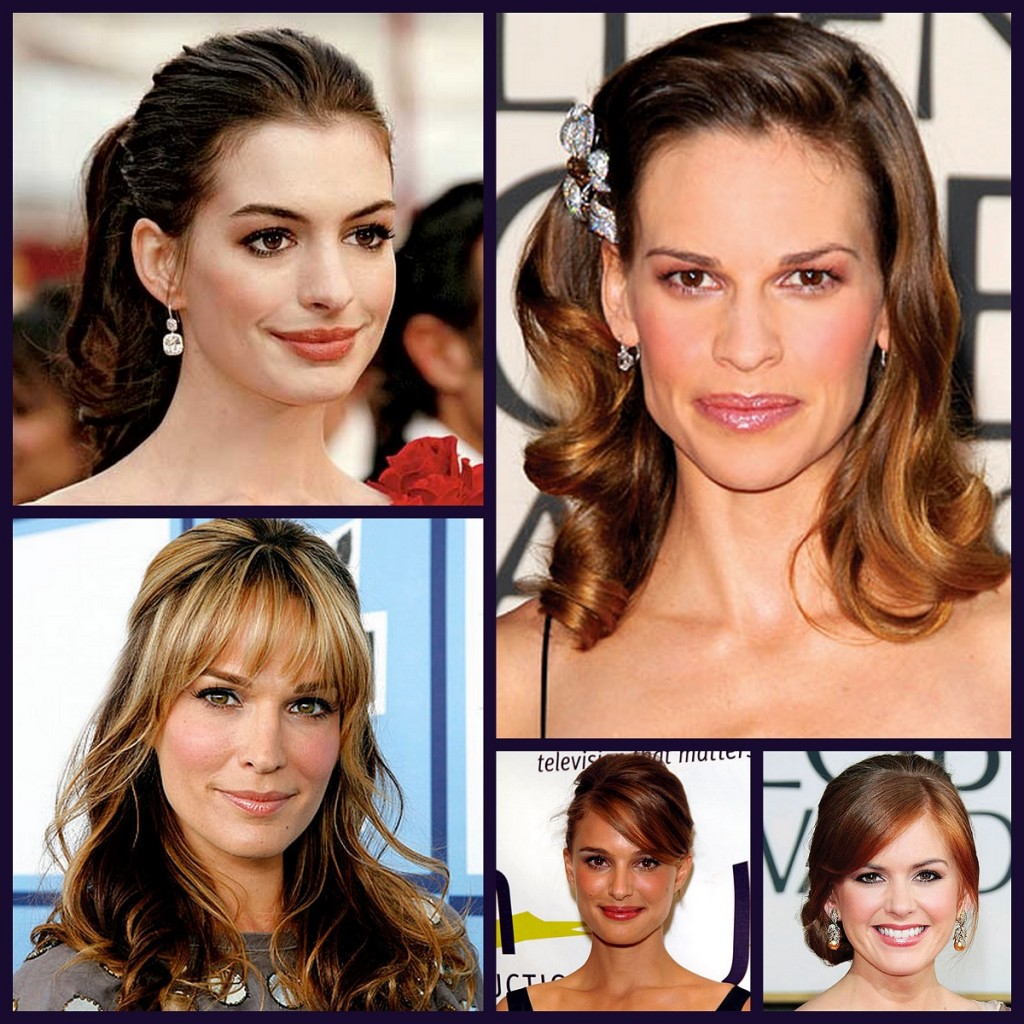 Inspiration board of celebrities for wedding make-up looks