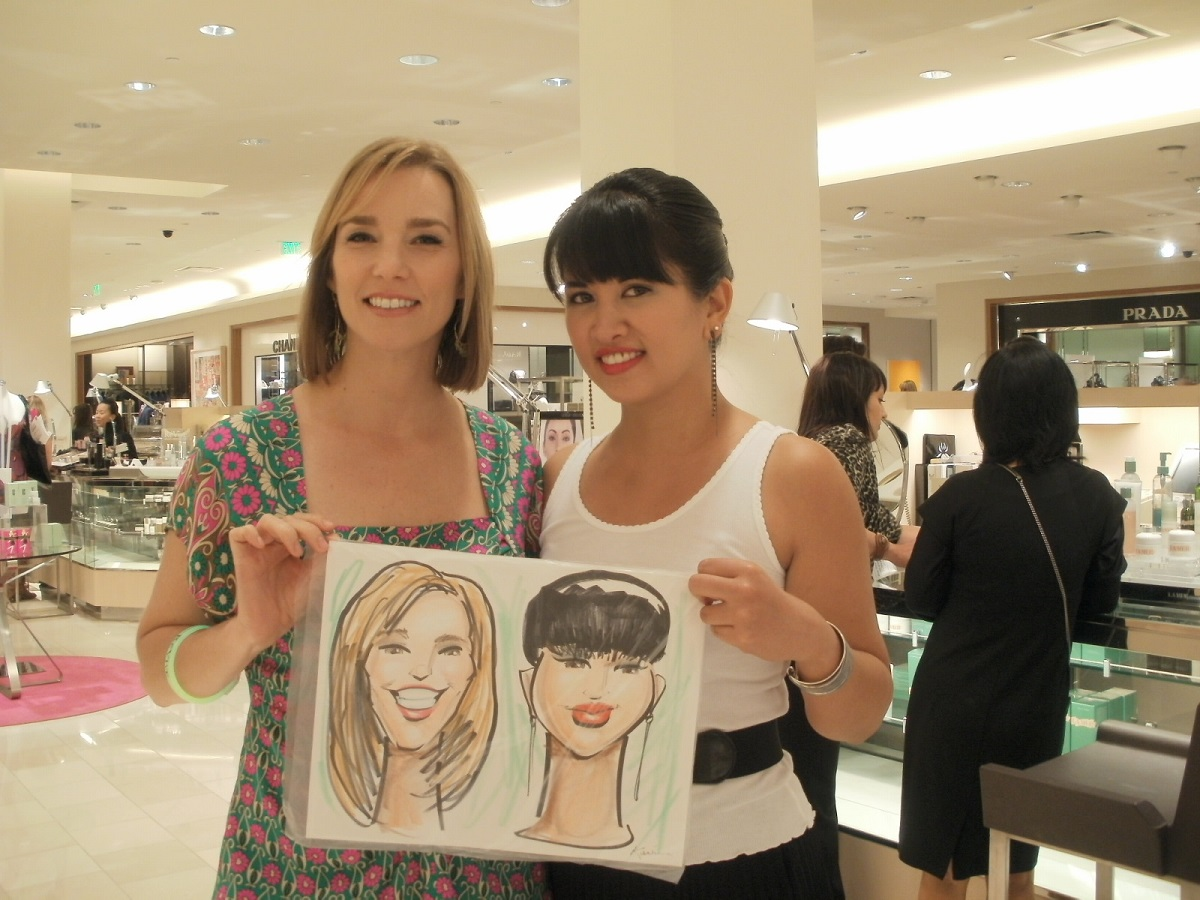 Our caricatures, courtesy of Neiman Marcus