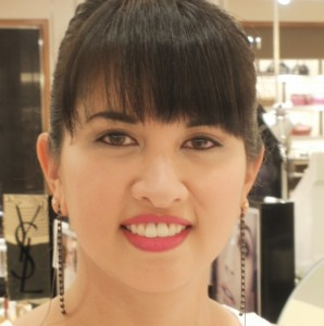 Jenn in Giorgio Armani Luminous Silk Foundation at Neiman Marcus