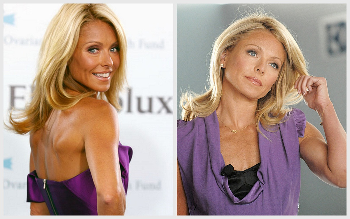 Kelly as an Oompa Loompa (left); normal-ish color (right)