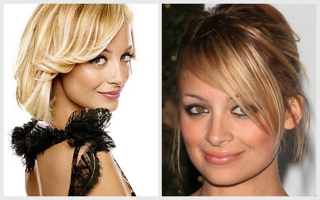 Nicole Richie's skinny phase in 2006 (left); healthy face/weight in 2005 (right);
