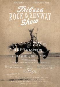 Ad for Tribeza Rock + Runway Show
