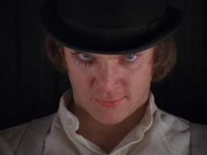 Clockwork Orange bad mascara look
