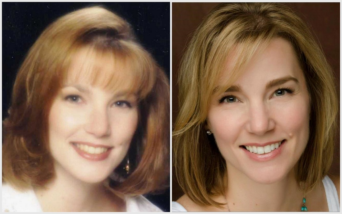 Author at age 25 (left); age 40 (right)