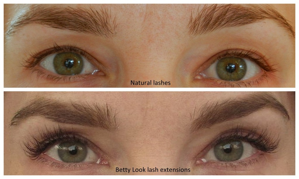 Betty Lash extensions before and after