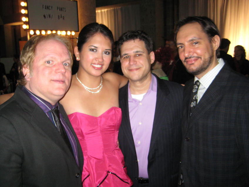 Jenn with handsome male friends at Feteish