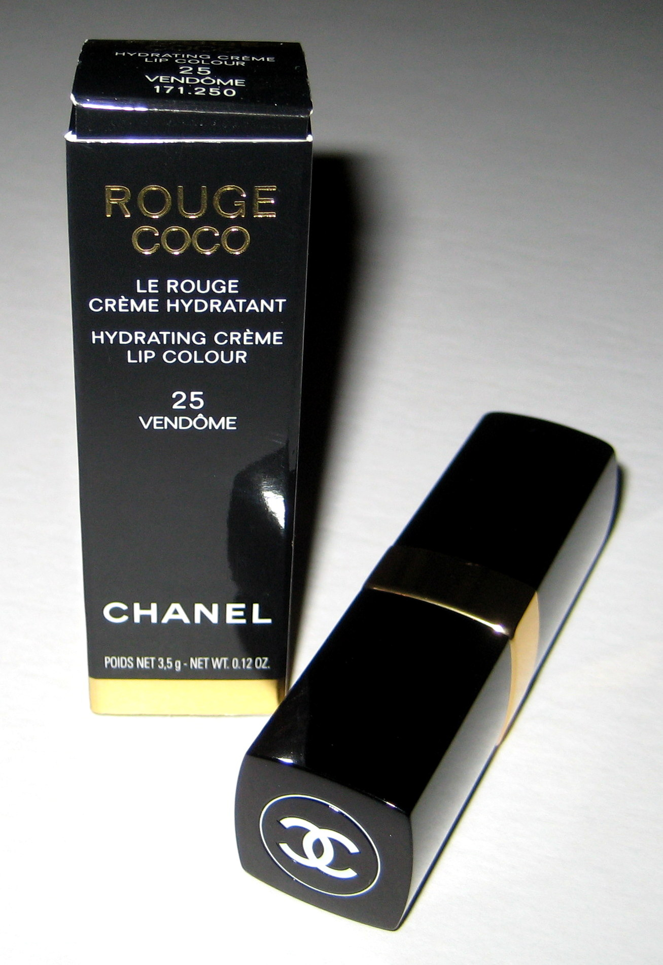 Chanel Rouge Coco in Vendome, tube and box