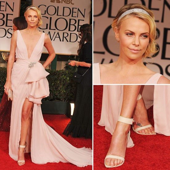Charlize Theron in Dior Couture at the 2012 Golden Globes