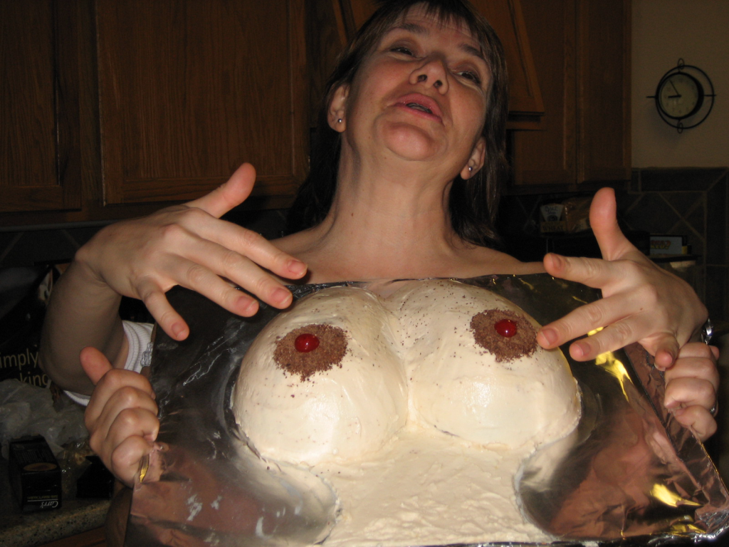 Deb's celebratory, post-surgery boob cake