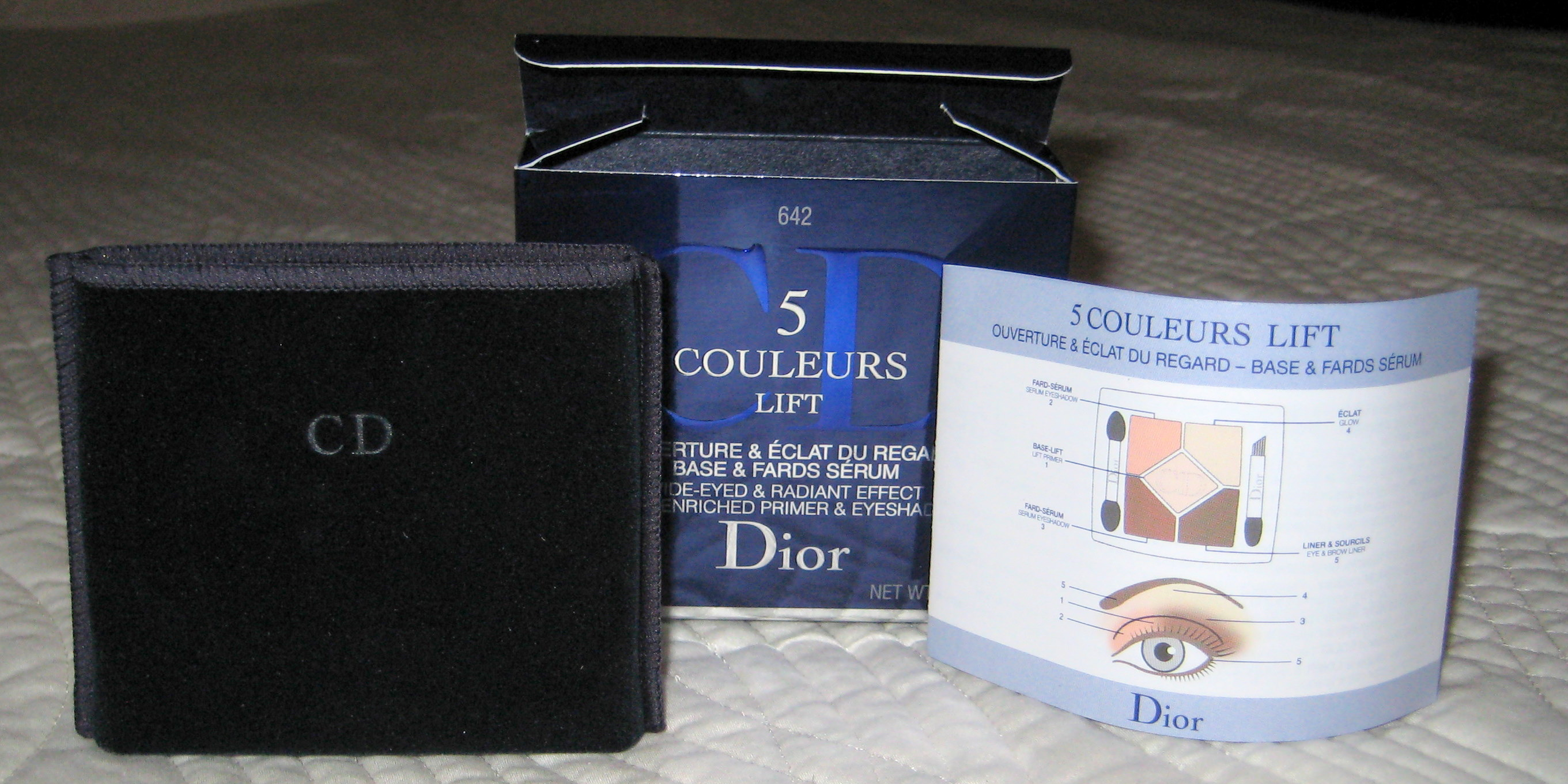 Dior 5 Couleurs Lift Eyeshadows - contents out of box