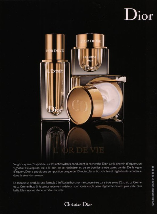 Dior L'Or de Vie French ad