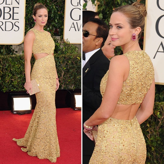 Emily Blunt wearing Michael Kors and Lorraine Schwartz at 2013 Golden Globes