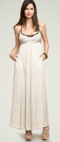 Gap cream-colored maxi dress