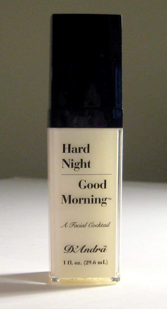 Hard Night Good Morning Facial Cocktail Serum with cap on