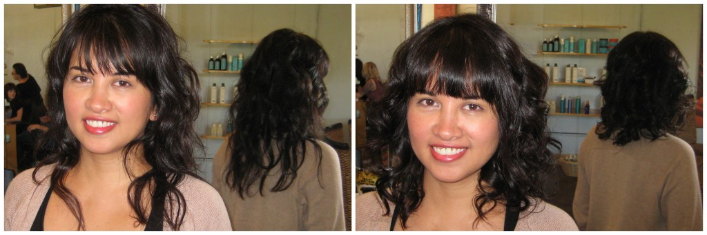 My latest haircut by Mark, before and after