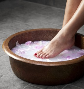 Signature foot soak at Hiatus Spa + Retreat