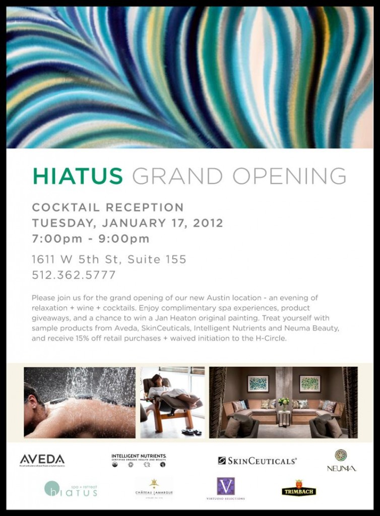 Hiatus Spa + Retreat Grand Opening Party