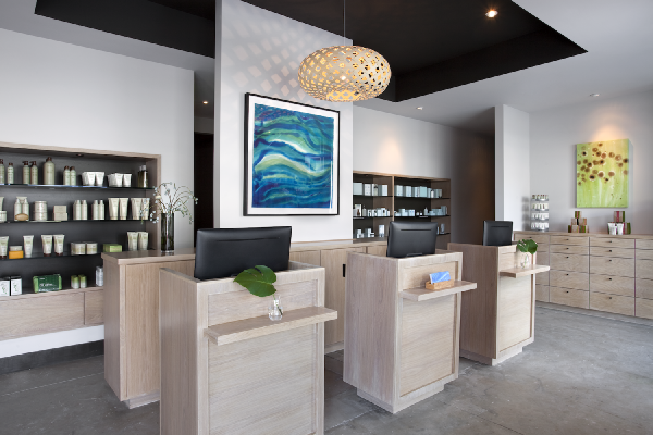Hiatus Spa + Retreat Check-In Area and Retail