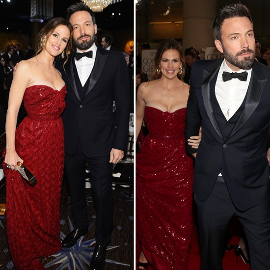 Jennifer Garner in Vivienne Westwood and Ben Affleck in Gucci at 2013 Golden Globes