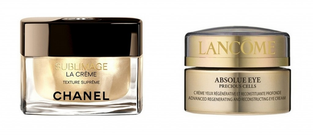 Favorite products by Julia McCurley: Chanel Sublimage La Creme and Lancome Absolue Eye Precious Cells