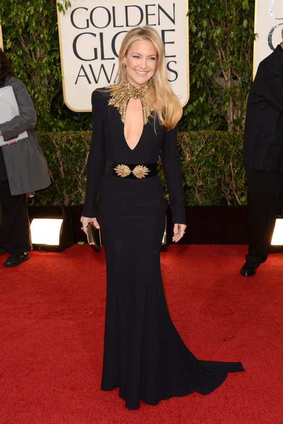 Kate Hudson in Alexander McQueen at the 2013 Golden Globes