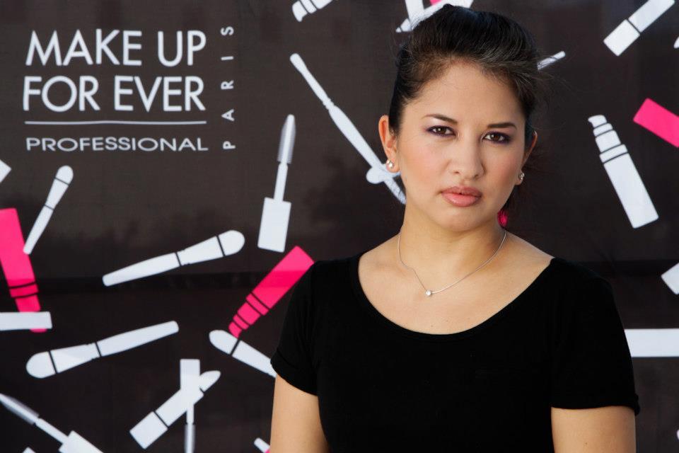 Jenn's final makeup look after Make Up For Ever Make Up Bag Remix