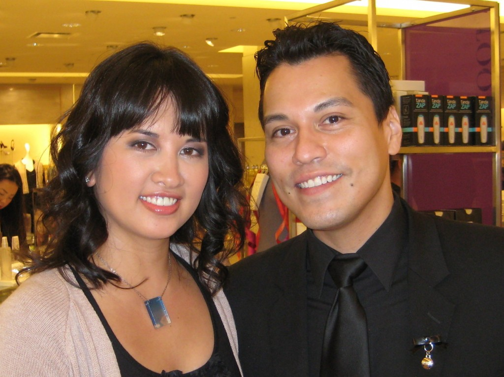 Jenn with Dior national make-up artist Jeffrey Sanchez