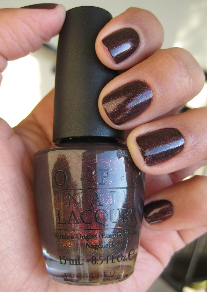 Jenn wearing OPI Nail Lacquer in Tease-y Does It