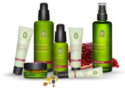 Primavera face care line including Revitalizing Rose Pomegranate products