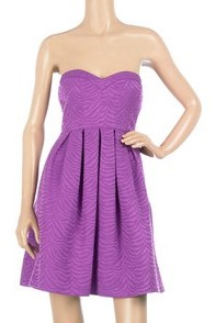 Rebecca Taylor purple strapless dress