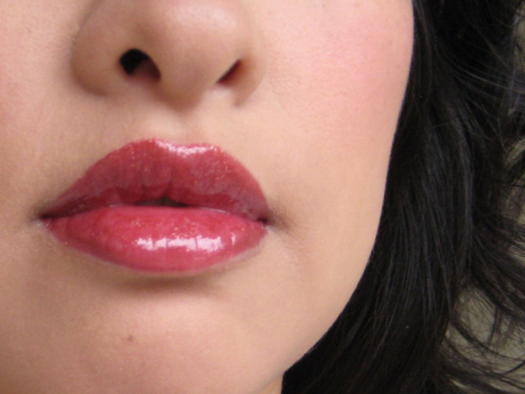 Jenn wearing Revlon ColorBurst Lipgloss in Spice It Up
