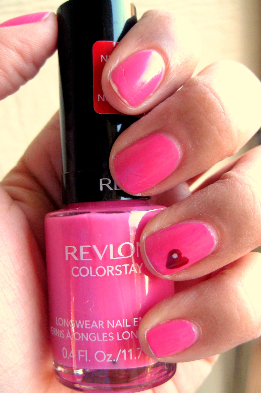 Jenn wearing Revlon ColorStay Nail Enamel in Passionate Pink