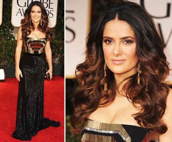Salma Hayek at the 2012 Golden Globes in Gucci