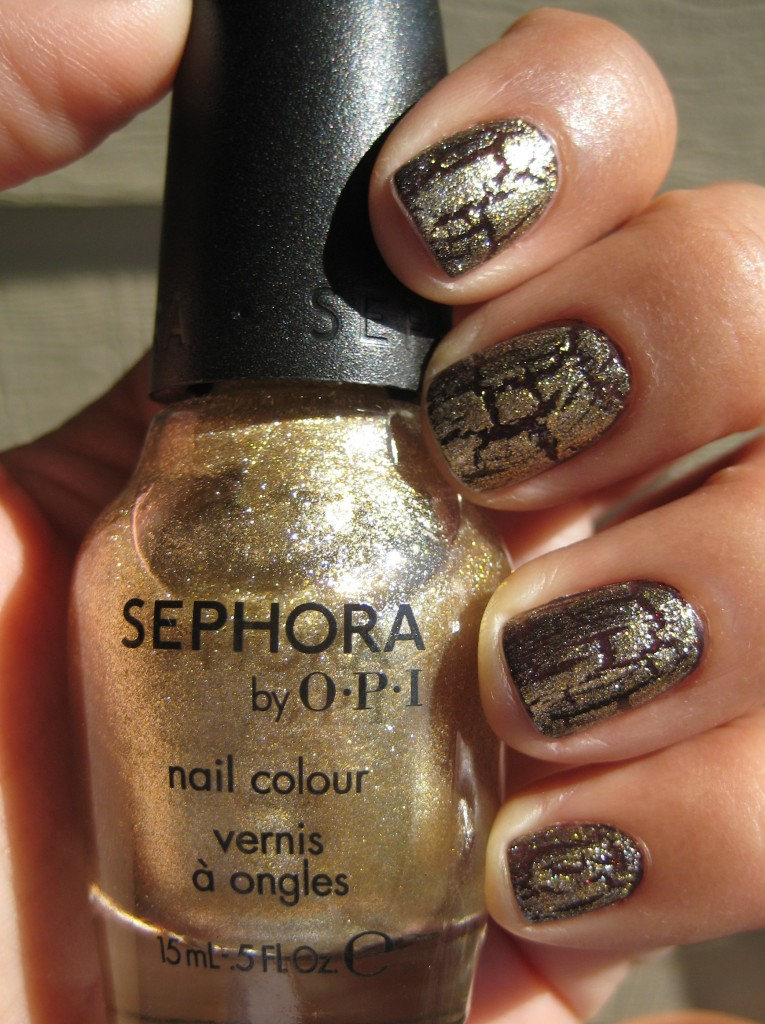 Trend Try-On: Crackle Nail Polish Effect with Sephora by OPI Blasted ...
