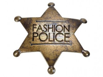 Fashion Police sheriff's badge