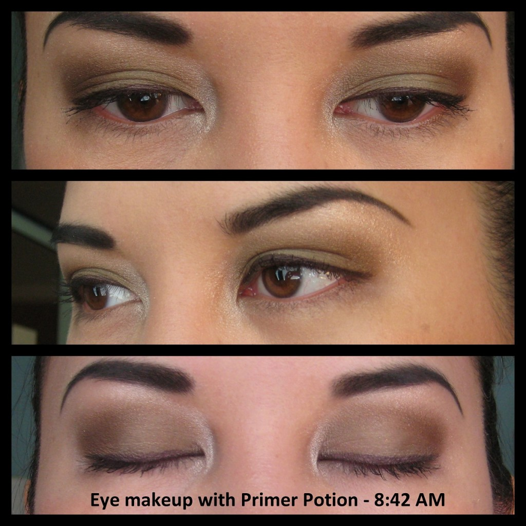 Jenn wearing eyeshadow using Urban Decay Eyeshadow Primer Potion, morning