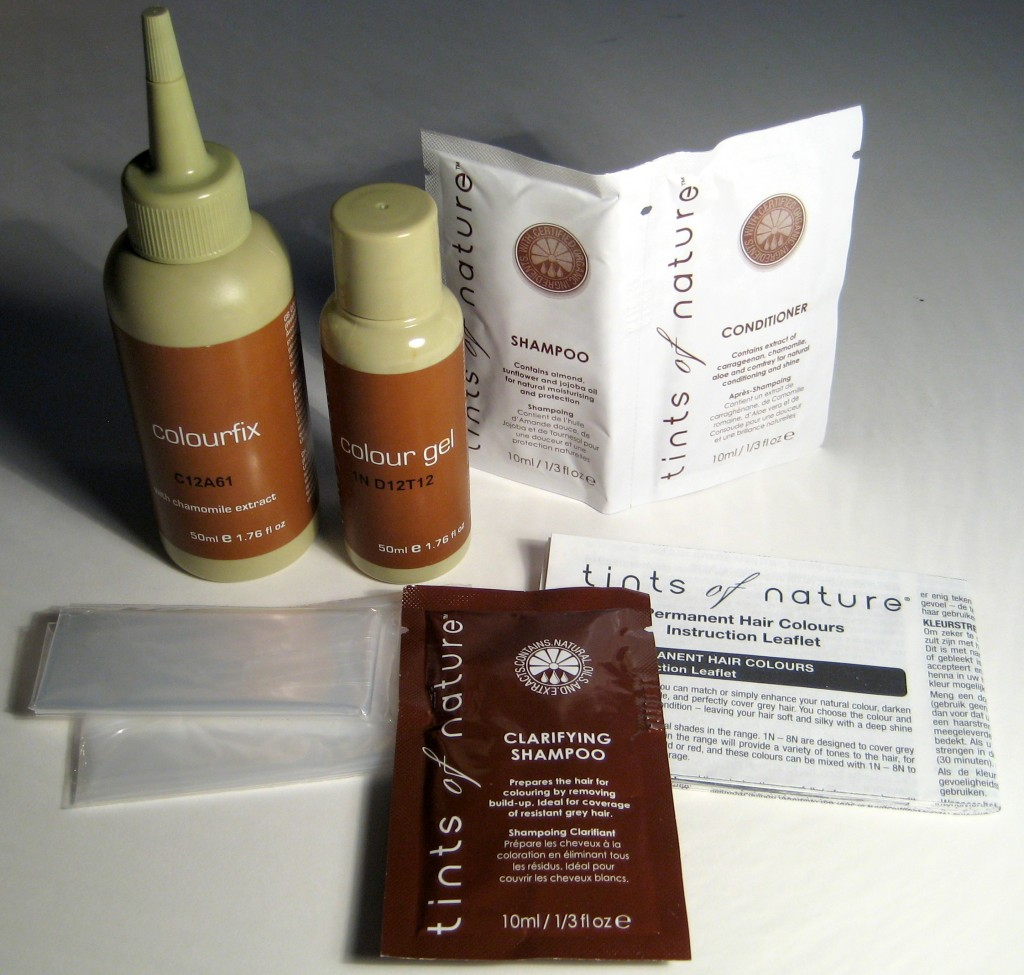 Tints of Nature Conditioning Permanent Hair Color - box contents