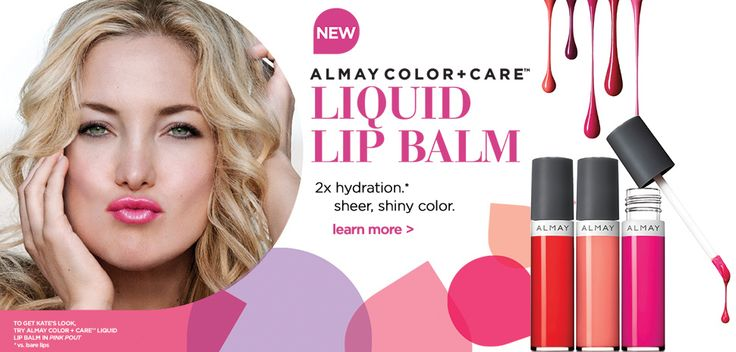 Kate Hudson in Almay Color + Care Liquid Lip Balm ad