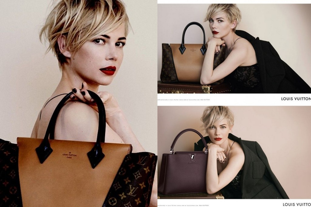 Michelle Williams Louis Vuitton ad campaign