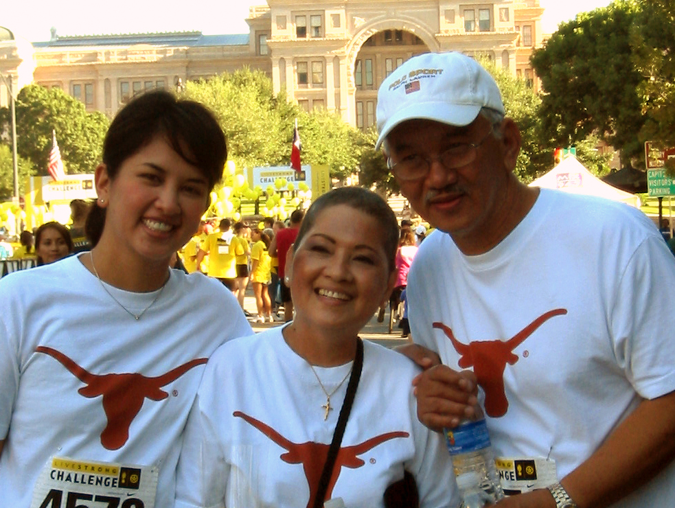 With my parents at the Livestrong 5K in October 2007