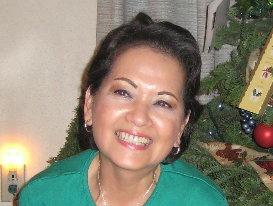 Christmas 2008 - this is my last photo of my mom, with her dark, very wavy hair and enviable skin