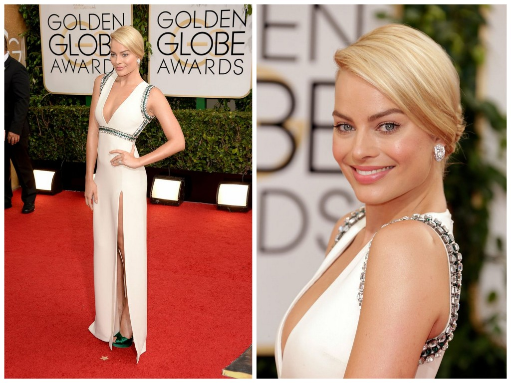 Margot Robbie in Gucci at the 2014 Golden Globes