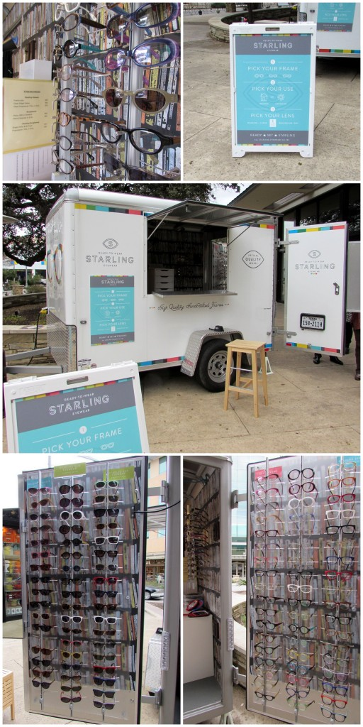 Starling Eyewear pop-up wagon at the Domain Austin