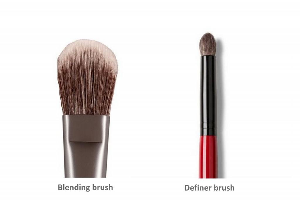Urban Decay blending brush and Smashbox definer brush