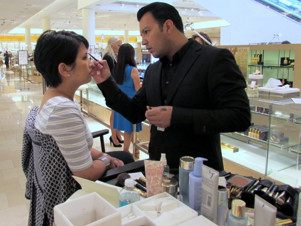 Estee Lauder global makeup artist Victor Henao at Neiman Marcus