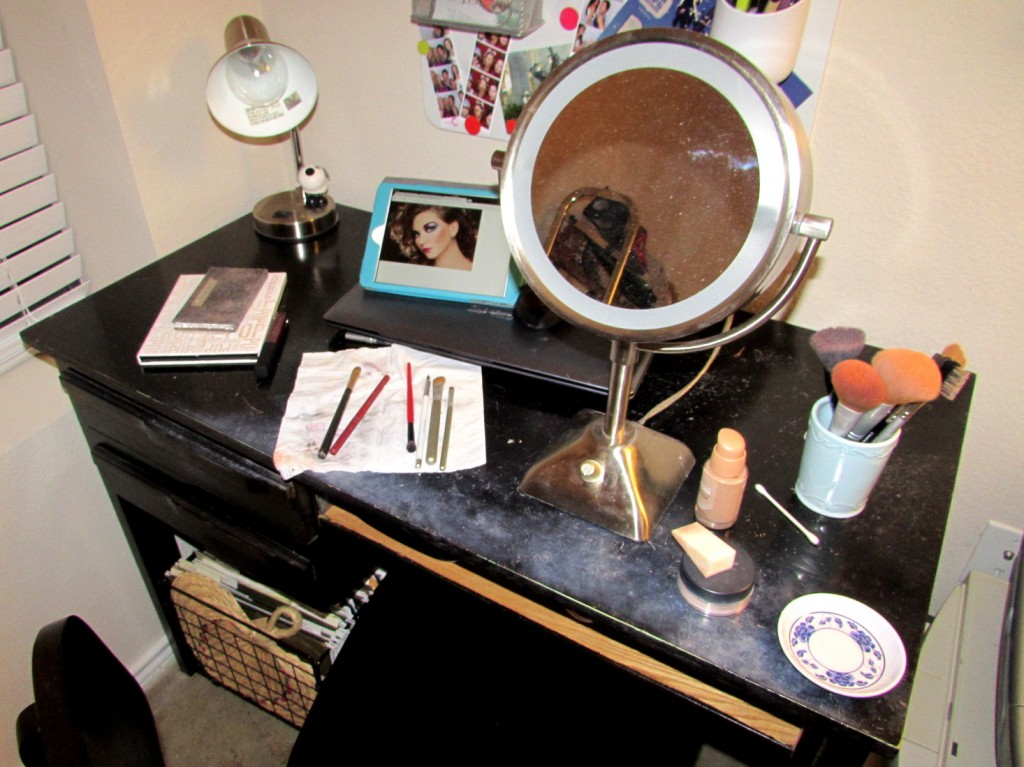 vanity aftermatch of disco makeup