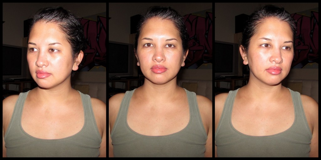 Jenn with clean, fresh face after disco makeup