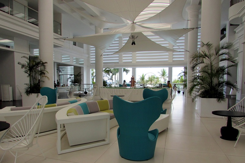 lobby of the Movenpick Hotel