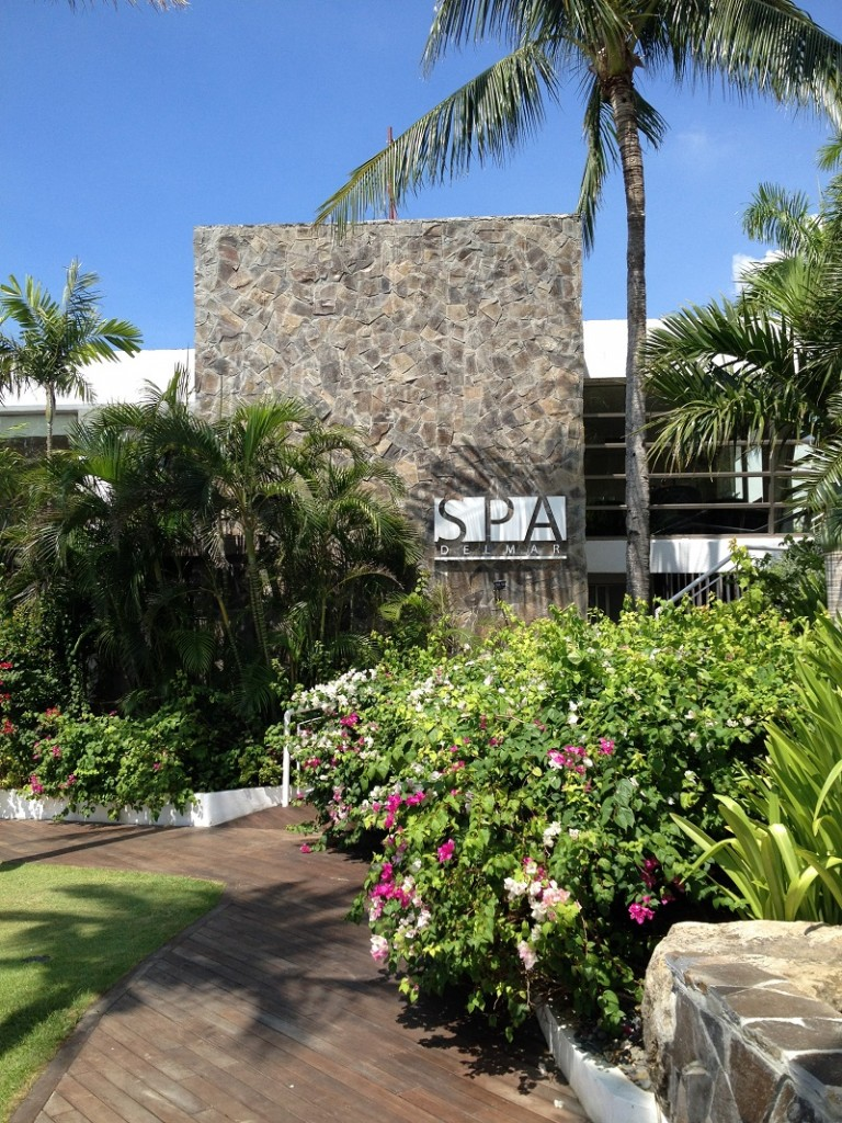 entrance of Spa Delmar at the Movenpick Hotel in Cebu